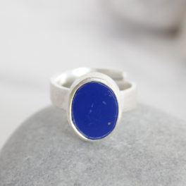 Lapis Lazuli Natural Gemstone Handmade Ladies Silver Ring