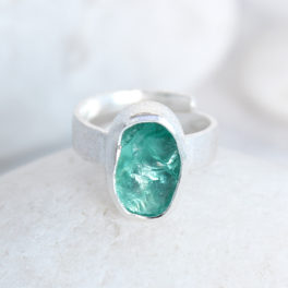 Apatite Gemstone Handmade Ladies Sterling Silver Ring