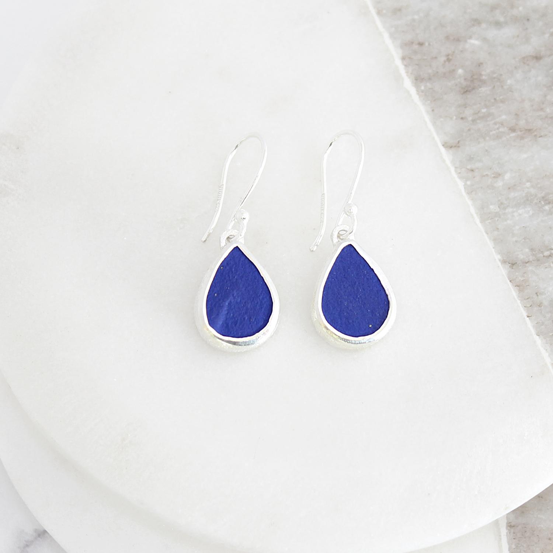 Lapis Lazuli Handmade Ladies Sterling Silver Earrings