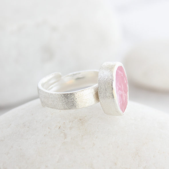 Morganite Gemstone Handmade Ladies Sterling Silver Ring