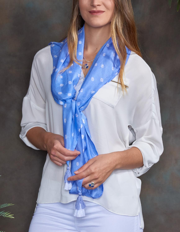Lavender Luxury Silk Hand Dyed Scarf