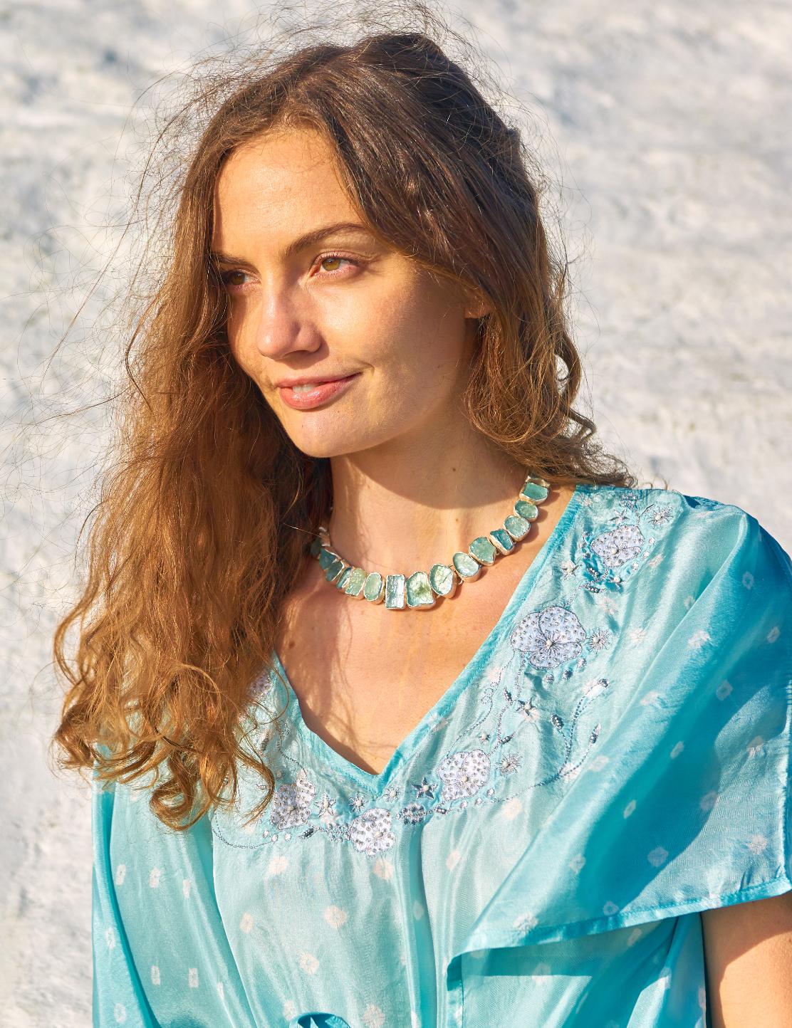 gemstone silver jewellery for women
