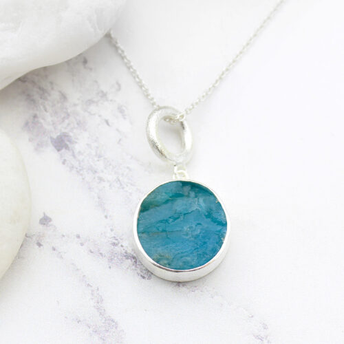 Apatite Gemstone Handmade Ladies Sterling Silver Pendant