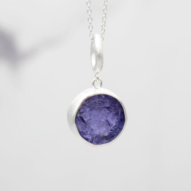 Tanzanite Gemstone Handmade Ladies Sterling Silver Pendant