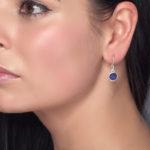 Tanzanite Gemstone Ladies Sterling Silver Small Earrings