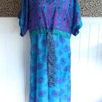 Jacinda Recycled Silk Sari Print Dress J1