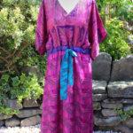 Jacinda Recycled Silk Sari Print Dress J4