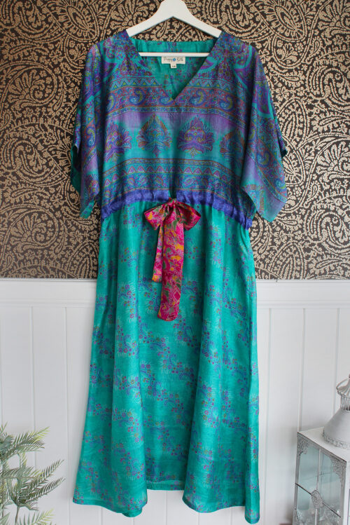 Jacinda Recycled Silk Sari Print Dress J5