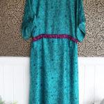 Jacinda Recycled Silk Sari Print Dress J7