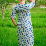 Cassia Dress in Blue Poppies