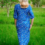 Cassia Dress in White Poppies
