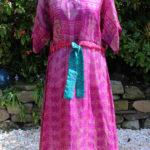 Jacinda Recycled Silk Sari Print Dress J12