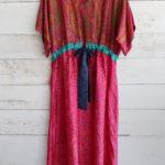 Jacinda Recycled Silk Sari Print Dress J16