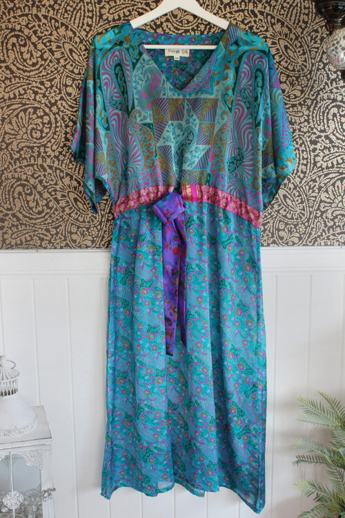 Jacinda Recycled Silk Sari Print Dress J18