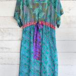 Jacinda Recycled Silk Sari Print Dress J18