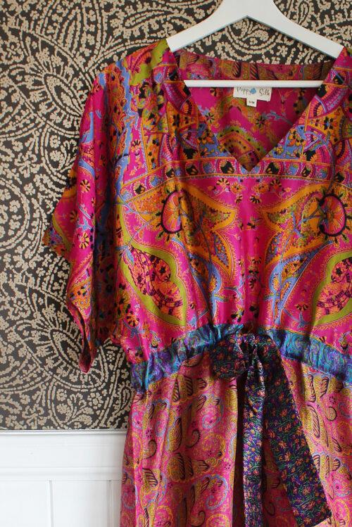 Jacinda Recycled Silk Sari Print Dress J19