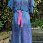 Jacinda Recycled Silk Sari Print Dress J21