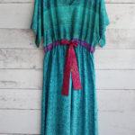 Jacinda Recycled Silk Sari Print Dress J23