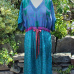 Jacinda Recycled Silk Sari Print Dress J8
