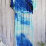 Liana Dress in Blue Ocean
