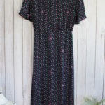 Liana Embroidered Dress in Navy Dot