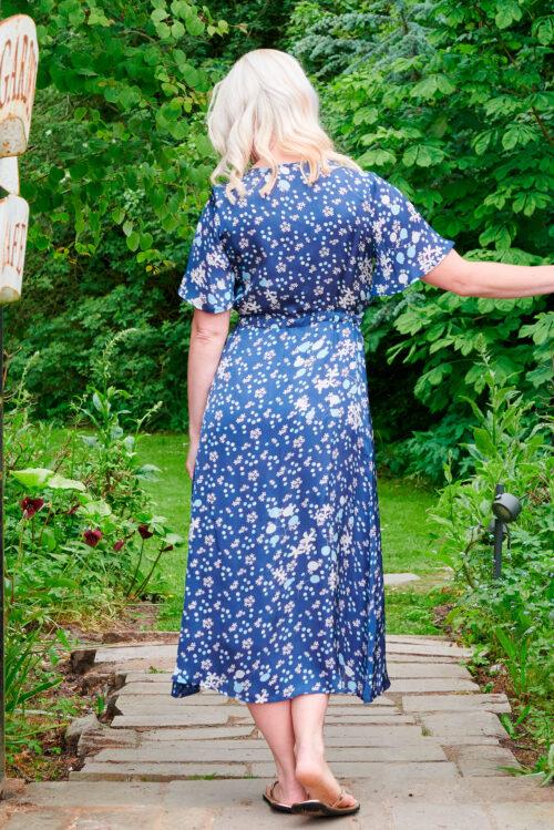 Liana Dress in Navy Jasmine
