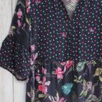 Rosella Dress in Navy Botanical