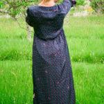 Rosella Dress in Navy Dot Botanical