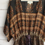 Jacinda Recycled Silk Sari Print Dress J28