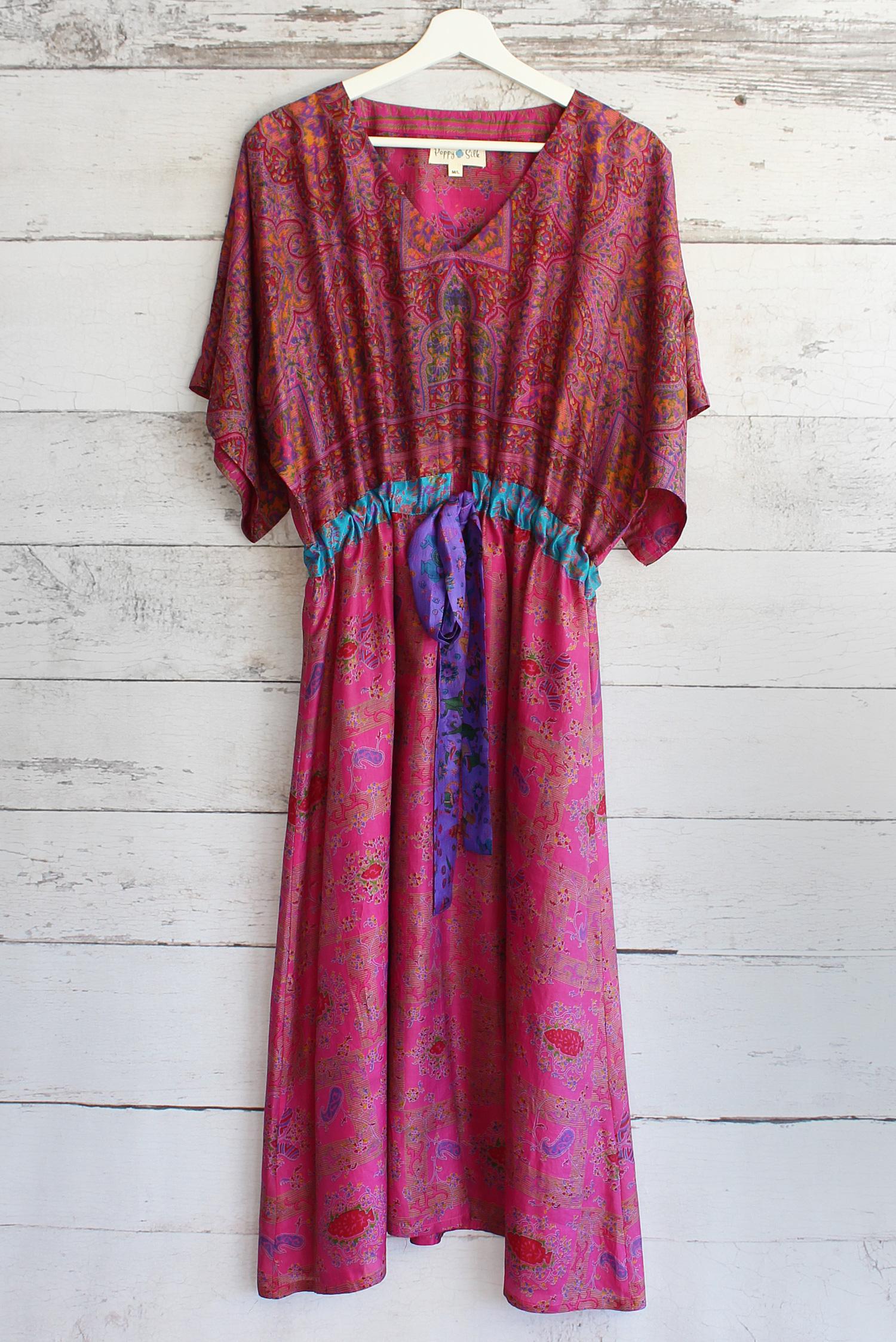 Jacinda Recycled Silk Sari Print Dress J29