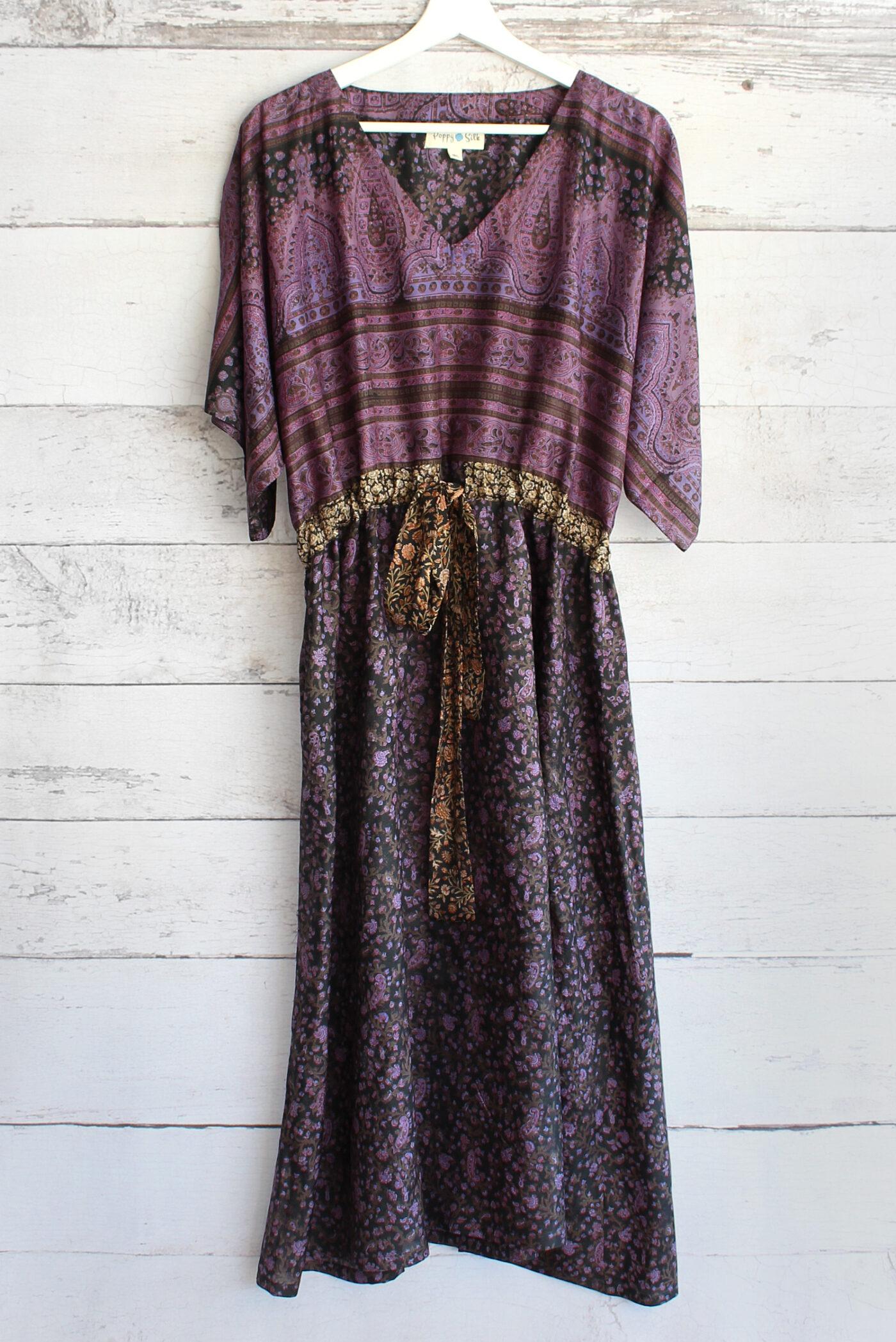 Jacinda Recycled Silk Sari Print Dress J31