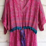 Jacinda Recycled Silk Sari Print Dress J32