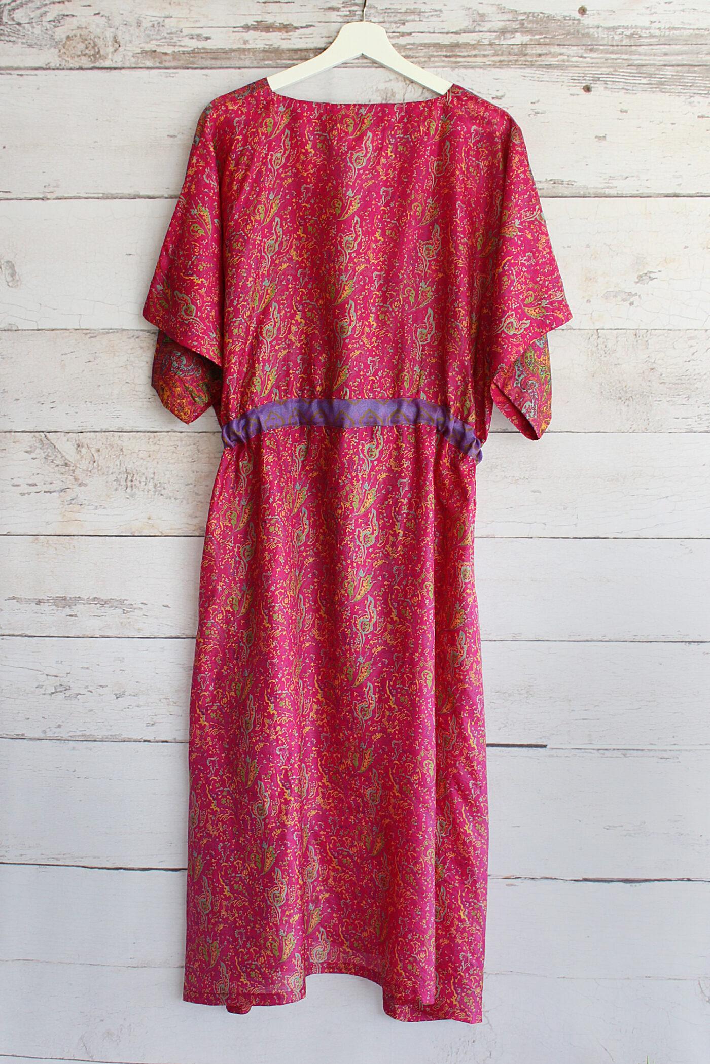 Jacinda Recycled Silk Sari Print Dress J35