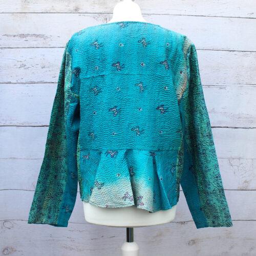 Silk Kantha Hand Stitched Ladies Jacket 01