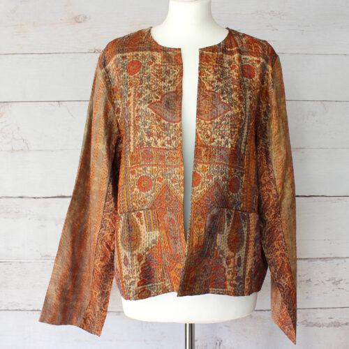 Hana Silk Kantha Hand Stitched Ladies Jacket 15
