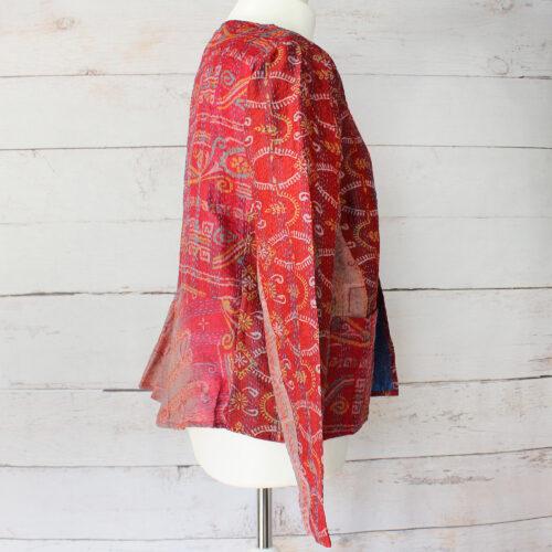 Hana Silk Kantha Hand Stitched Ladies Jacket 18