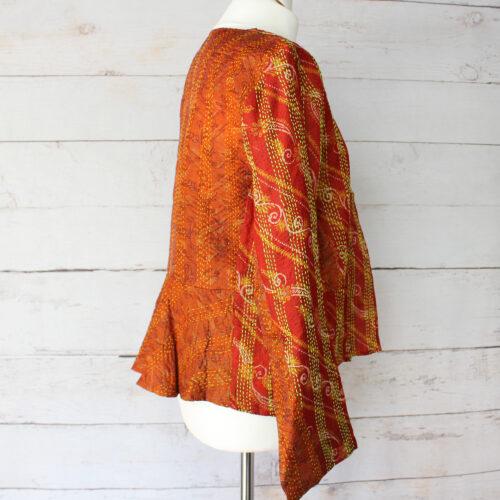 Hana Silk Kantha Hand Stitched Ladies Jacket 19