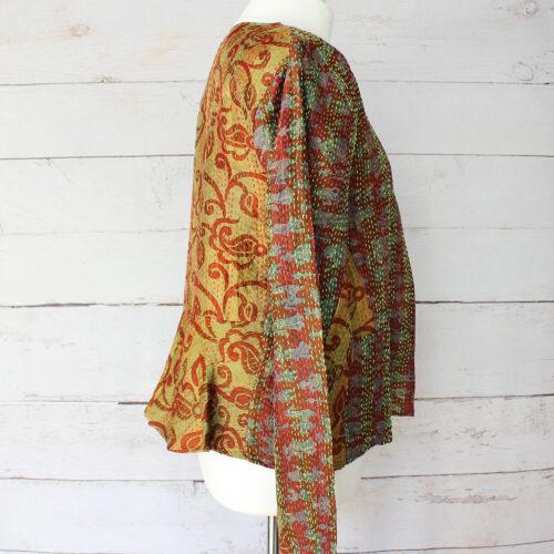 Hana Silk Kantha Hand Stitched Ladies Jacket 20
