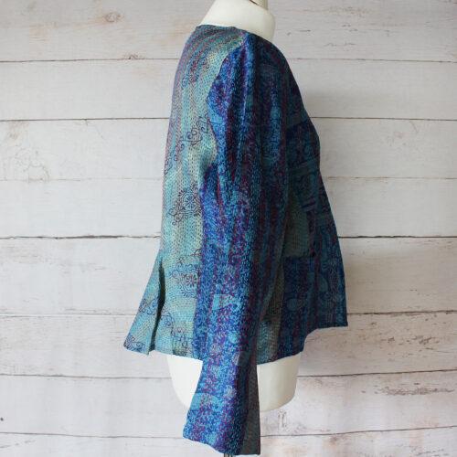 Hana Silk Kantha Hand Stitched Ladies Jacket 24