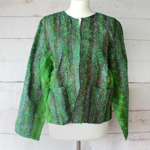 Hana Silk Kantha Hand Stitched Ladies Jacket 31