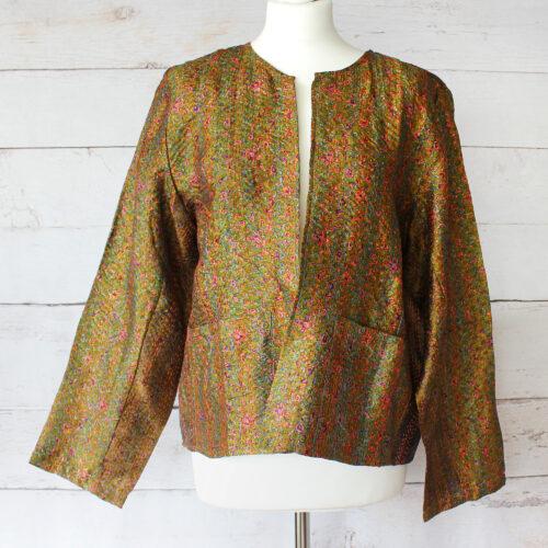 Hana Silk Kantha Hand Stitched Ladies Jacket 32
