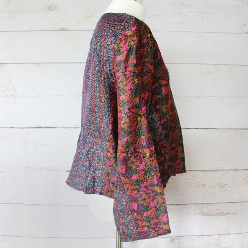 Hana Silk Kantha Hand Stitched Ladies Jacket 34