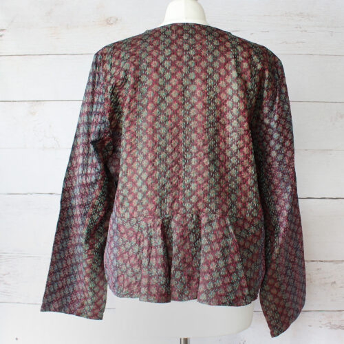 Hana Silk Kantha Hand Stitched Ladies Jacket 35