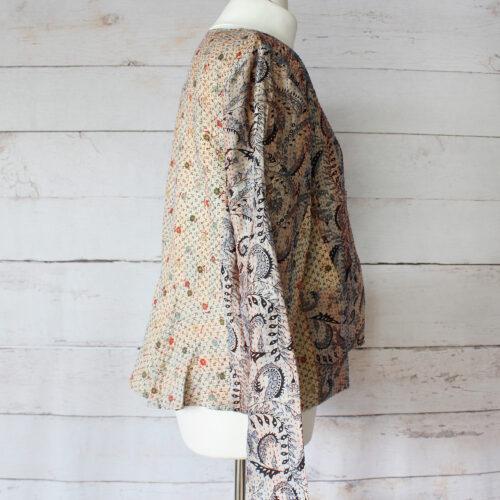 Hana Silk Kantha Hand Stitched Ladies Jacket 38