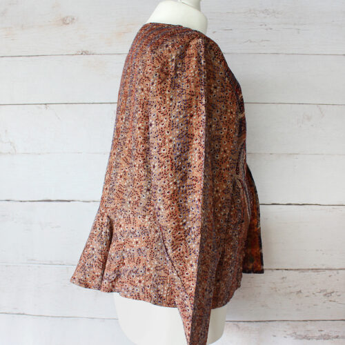Hana Silk Kantha Hand Stitched Ladies Jacket 40